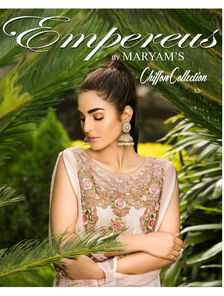 Maryam empereus chiffon embroidered suits with chiffon embroidered dupattas Book on 09831663759