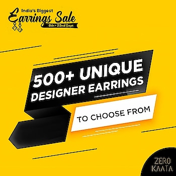 """❤ India's Biggest Earring Sale❤ . . 😁"""" Your Miss Is Your Miss and is None Of Our Miss"""" 😁 . . India's Biggest Earrings Sale only on ZeroKaata😍😍 . SHOP NOW for Unique and Skin Friendly Designs at Flat 80% Off . . Visit www.zerokaata.com . . #jewellery #jewelry #jewelrysale #jewellrydesign #earringsale #earringshop #earringsogood #giveaway #fashionblogger #jewelleryshop #JewelleryBlog #sales #NecklaceHandmade #earringshandemade #jewelrymaking #jewelleryaddict #jewellerygram #jewellerysale #IndiasBiggestJewellerySale  #sale #dresses"""