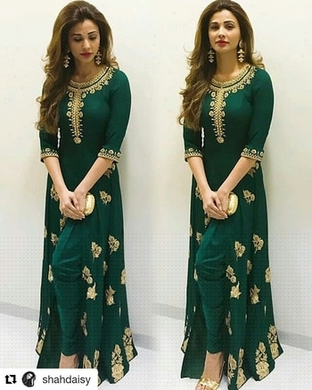 Traditional look on point... Follow for more @hcpkanika @hcpkanika @hcpkanika . #Repost @shahdaisy (@get_repost) . . #hercreativepalace #fashion #bollywood #bollywoodblogger #daisyshah #fashionable #fashionista #gorgeous #traditional #green #beautiful #rightlyfashioned #hcpkanika