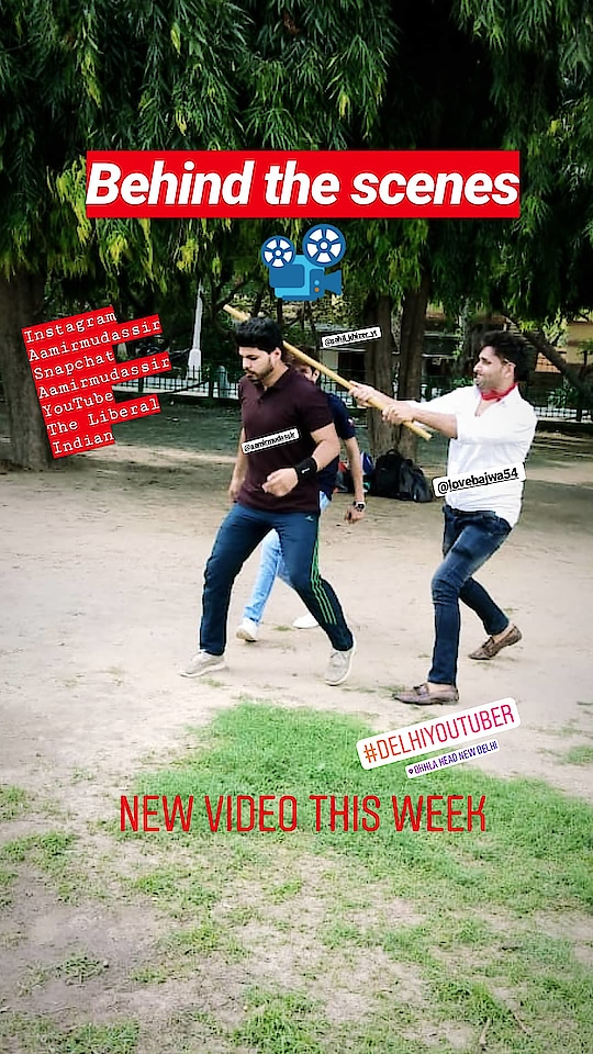 Behind the scenes of latest video🎥. New video will be on my YouTube channel this week.  Follow @aamirmudassir for more.  Let's be friend on Instagram Snapchat Twitter Roposo @AamirMudassir Facebook @AamirVlogger #YouTube (The Liberal Indian)  #AamirMudassir #youtuber  #delhiyoutuber  #Viner #entertainer  #TheLiberalIndian #TLI #youtubeindia  #ytcreatorsindia  #travelforlife  #photography  #locationshoot  #desivines  #fightscenes  #bollywood  #shortfilm