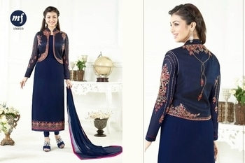 Heavy Georgette with koti concept dress. Contact on watsapp 9949673332 for placing orders.  #dresses
