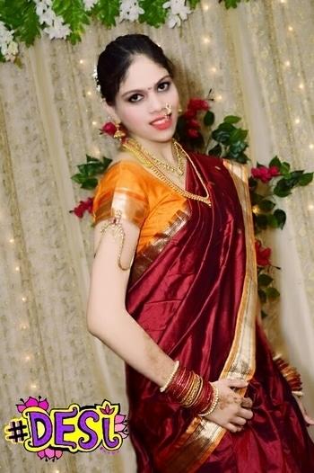 Love my kashi bai look... I love my saza necklace & Navari  Fitness expert & Dietician #desi