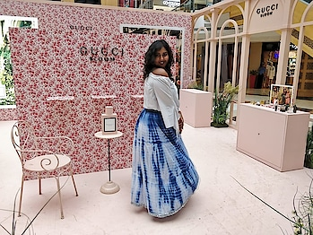 giving it the indo-western look... #indowesternlook #indowesternoutfit #gucci #gucciset #off-shoulder #longskirt