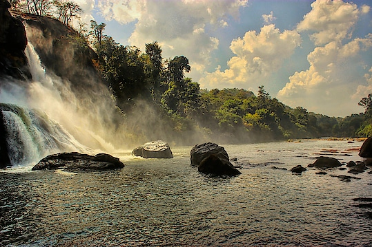 The incredible Baahubali Falls.