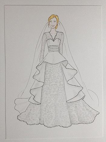 Wedding dress #fashiondiaries #designer #white #dress #weddingress #illustration #sketchinglove #drawing