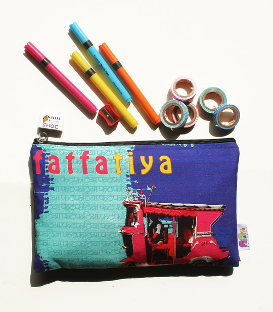 A #Multipurpose #Digital #Printed #quirky & #vibrant #canvas #Pouch is inspired from #taxis of #Shekhawati region of #Rajasthan. This pouch is ideal for #Kids &#Womens for their#stationery.This pouch comes with a zipper. Buy #online at www.fatfatia.in Rs. 250 only #makeuppouch #utiltypouch #multipurposepouch #onlineshopping #canvaspouch #bag #smallbag #travelpouch #fatfatiya