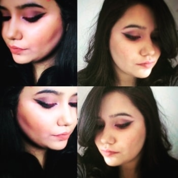 Hi everyone thank you all for ur response. So as I said very soon ill be starting make up tutorial series. So this is my 2nd look for that series the red and black ombre  eyeliner tuning it with nude lips. I used kylie matte liquid lipstick in the shade Leo for the eyes and shade dolce K for my lips. #thegirlything💖 #blogger  #indianblogger  #beautybloggerindia  #ombreeyes #kailycosmetics #kailylipstick #mynewmakeupstory #eyestory  #eyedrama  #nude  #nudelips  #followme