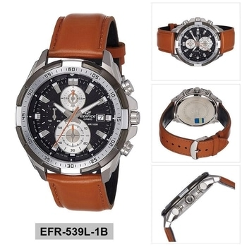 * Edifice  * Casio * EFR-539L-1B * For men * 7A  * Orginal model  * Feature;  -Day indicator -chronograph working  -12 hrs dial -swiss movement -leather  strap  -scratch resistant *Price-Rs 2199/-* +ship **with Orginal Edifice box ** #In stock 😍# For more details whatsapp-9643805684
