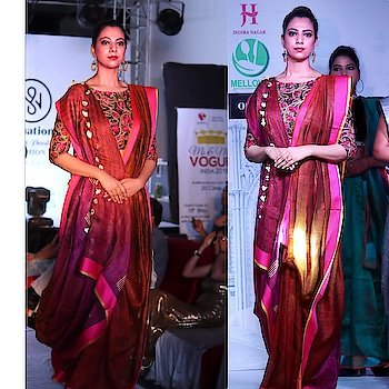 #rampwalk #modellife #linensaree #sustainablefashion #fashionmodel #sassysakshi
