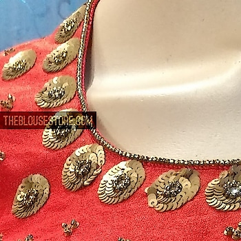 #royal  #handwork  #blouse in #red #custom made for your perfect fit. #buyitnow at theblousestore.com