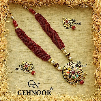 Maroon Awesomeness is just perfect when crafted with Fine Pearls to give that perfect Royal look! ❤️❤️ . Grab these Stunner Maroon Fine Pearl Haar adorned with Navratna Pendant & Matching Stud Earrings! 💟💟 . www.gehnoor.com 💻 . FREE SHIPPING anywhere in India 🚙 . Cash On Delivery Available across India 💲 . WhatsApp at 07290853733 📱 . www.facebook.com/Gehnoor/ . gehnoor@gmail.com 📝 . #bride #goldjewellery #kundannecklace #traditionaljewellery #indianbride #photooftheday #instabride #bridalwear #bridaljewellery #tags #like #likeforlike #followfollow #followus #followback #gehnoor #earrings #chandbali #kundan #everydayphenomenal #fashionblogger #indianfashionblogger #ColourMeGehnoor #Colourfest #maroon