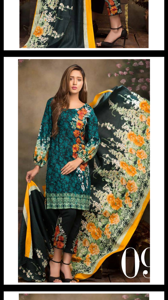 sale 😮 *Mannat Vol.2 by Akbar Aslam Winter Collection 2017*  Full Embroidered Khaddar Wool Shirt with Khaddar Wool Shawl & Khaddar Wool Trouser  Each 1500/-