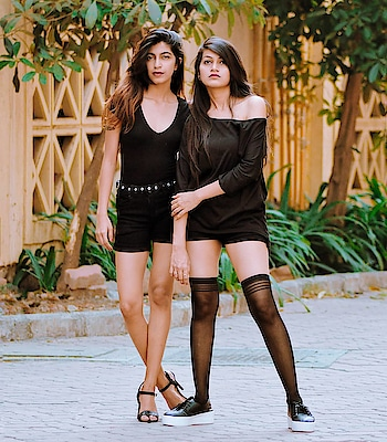 Twinning game strong ❣️ 📸: @ajayyparmar . #thehetalgada #twinning #black #blackoutfit #blackonblack #styleupindia #outfitoftheday #outfitpost #fitnessindia #scenic #blacklook #lookbook #photography #shootday #twinningiswinning #twingamestrong #twingirls #outfittwins #roposo #ropo-good #goodlife #ropo-style #ropo-love #roposo-style #roposogal