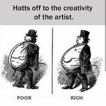 #rich vs #poor #comparision  #creative #artdesign