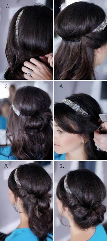 Easy party wear hairstyle.....