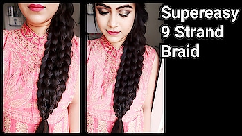new video on youtube. #Newhairstyle #9strandbraid #braid #indianhairstyle #hairstyle #youtuber