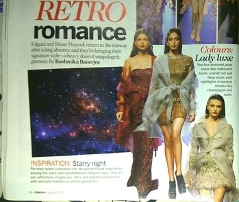 Trend of the season: Retro romance. Embellishments: SEQUINED GLORY Star motifs decorated with Swarovski crystals found their way onto almost all the ensembles on the runway. Bold, modern and futuristic, the clothing embodies cocktail glamour.  #retro #retrolook #sequined #trendlookbook #rampready #latesttrends2017 #styleupdate #flashbackfashion #throwbackfashion #style2017 #hashtaggameon