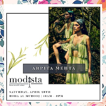 """Enchanted Forest"" collection by @arpita__mehta with refreshing hues for her SpringSummer'18 collection.  The collection defines the feminity of the designer which is free spirited and fearless. Don't miss out her collection at @modistadxb on April 28th at @rodaalmurooj . #Modistadxb #Modista #SpringTrends #springsummer #SS18 #LifeStyleExhibition #Lifestyle #Exhibition #ExhibitionInDubai #Designers #ArpitaMehta #EnchantedForest #silhouette #SS18 #NewCollection #ArpitaMehtaSummer #AMFusion #AMcouture #April28th #Dubai #MyDubai #dubaifashion #trends"