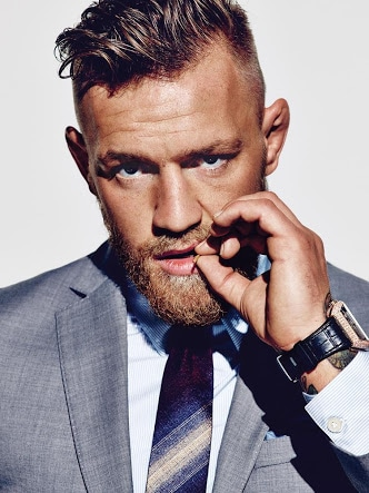 """I'm a fucking pimp, rocking all white Gucci mink, and without me, this whole fucking ship sinks."" The bold UFC champion Conor McGregor isn't known for being understated, either in what he says, or how he says it. But when it comes to his personal style, the Notorious one doesn't need to make a big noise for everyone to stand up and take notice. Whether it's his handmade three-piece David August suits, Louis Vuitton python loafers, of Dita Mach-One sunglasses, everything McGregor wears is delivered with all the balls out braggadocio he can muster. McGregor is by no means the only UFC bruiser bringing some much-needed sartorial flair to the octagon – traditionally a place where style, along with lesser competitors, has gone to die. McGregor displays a level of swag to match his unrivalled swagger – and fighting prowess. As the Irishman himself puts it, ""There's two things I really like to do and that's whoop ass and look good."" #rocknshop  #thevisionaries #likeforlike #ootd #swag #pots #l4l #fit #fitness #formals #men-fashion #beard @rock_n_shop"