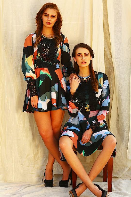 The magic of our print cannot be missed Grab #fragmentsbynityabajaj on www.nityabajaj.com  #skaterdress #skatergirl #print #dress #labelnityabajaj #NITYABAJAJ #FRAGMENTS18 #Springsummer2018 #SHOPNOW #designerdresses #fashion #ecommerce #abstract #art #fashion