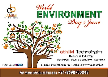 Let us come together to make our planet greener with abhUMi Technologies.  Celebriting world Environment Day 2018!  For more details please visit us Email: info@abhumi.in Contact : +91-8698755048  #abhumiTechnologies #worldenvirnmentday2018  #technologies #followforservices #ITsolution #website #application #graphicdesign #followforfollow #likeforlike #outdoor #insta #like #follows #indiancompany #bestservices #industrialtraining.