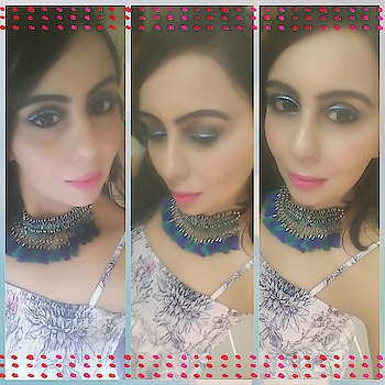 When blue become ur favourite💙💙 and you be like a Sea Princess 👸  #blue #blueeyes #blueeyeliner #blueandgreen #whiteandbluedress #blue-lover #bluechoker #whiteandblue #loveformakeup #women-fashion #makeup of the day #pinklips #pinklipstick #fashionblogger #makeupblogger #fashionista #befashion #bluenblue #mumbai bloggers #delhilove #kolkata #chennai #punjabi #patna #indore #chandigarh #gurgaon #indore #nagpur #banglori #indian #loveforindia #ootd_white  #outfitoftheday   Dress -: @onlyindia  Choker -; @Bought it from Delhi  (Janpath )
