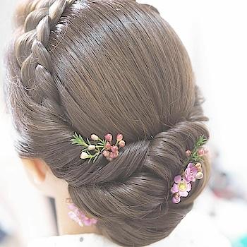 hair bun style #bridalmakeupartist