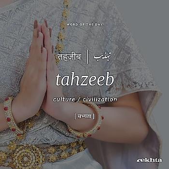 #wordoftheday #tehzeeb #learn #urdu