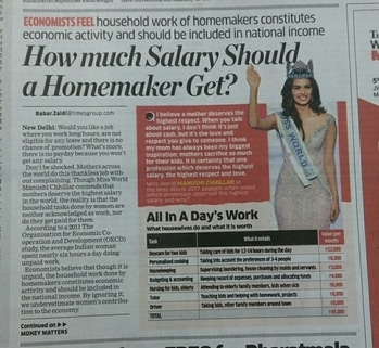 High time we acknowledge the work of a stay-at-home women! #nationspeaks #housewives #homemakers #manushichillar