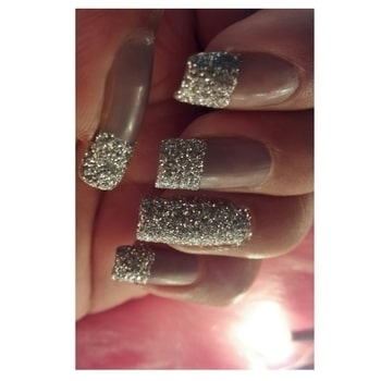 Diy Glitter Nails 💅 #Diy #Nails #Glitter #silver #sparkle #love  #nailart