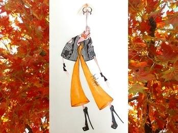 Fashion illustration 🖌#stylized #lovemystyle #clours #sketching #trendy #streetstyle #womenswear #warmcolours #orange #black #style #widepants #bikinitop #sleevelessjacket #blackandwhite #stripes #rust #blackheels #earings #thoseredlips #brownhair #style #pose #artist #art🎨 ❤