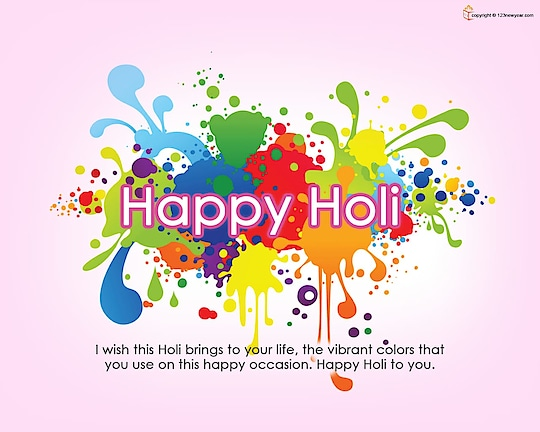 Happy holi..