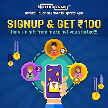 Lets play Nostragamus - India's favorite fantasy sports app! Download & Get ₹100 -https://nstra.pro/mYCgFqxJeVPlay fantasy for #IPL, #CricketWC & many other sports. Make predictions and win money upto ₹50 Lakhs daily!Sign up with my referral code DEV9225 to get the same offer