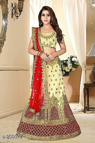 Girl's Net Lehenga Choli Set Fabric: Variable ( Check Product For Details)  Waist Size: Lehenga - Up To 38in To 42in , Blouse -0.8 Mtr , Dupatta -  2mtr ,Inner Attached  Type: Semi Stiched  Description : Variable ( Check Product For Details)  Work:  Border & Lace Work  Dispatch : 2 - 3 Days #lehengas