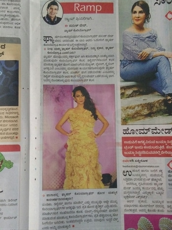 Check my article In today vijaykarnataka news paper lavlavike fashion model  writeup  by Fashion Journalist Sheela c. shettyhttp://www.vijaykarnatakaepaper.com thanks lot dear Sheela C. Shetty