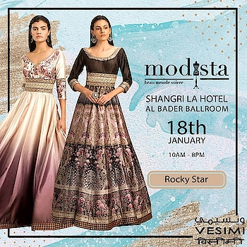 Shop this look by #rockystar at The Party Edit on Sat 18th Jan , Shangrila Hotel, Dubai from 10am to 8pm🌟🌟 . #Modista #modistarocks #Modistadxb   #gettingready #almosttime #shopping #shoppingevent #exhibition #kumuddesigns #shoppingtime #westernwear #indian #lifestyle #exhibitions #mydubai #dubaifashion #onedayonly #dubaifashionbloggers