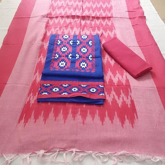 850+₹     ikket cotton top work   cotton bottom   ikket cotton duppta sd