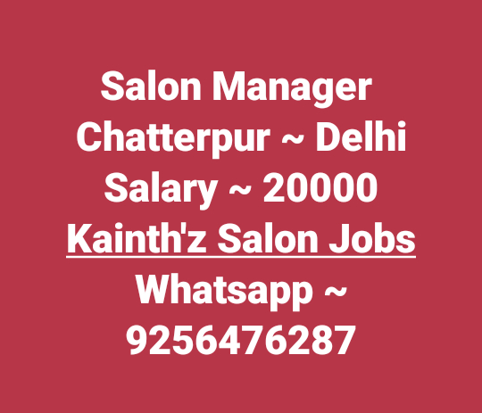 "#SalonjobsinDelhi #Jobsinchatterpur #Storemanager   #Jobs #Salonjobs #Hairjobs #hairstylist #Makeup #skincare #beauticians #pedicurist  #Nailart #Frontdesk #Telecaller #Marketing in given location trails updates just Click on link on ""Quick Resume"" Submit or Whatsapp 9256476287 or Email:- kainthconsultancy@gmail.com   http://kainthconsultancy.com/salon-jobs-in-north-india/"