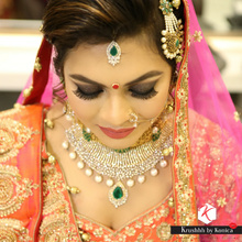 """Its always a pleasure to work with the brides who trust you with your work to bring out the best in them.Gave her a contemporary and a non cliché look that was bold and glamorous yet bridal at the same time.She made a stunning bride.Watch her makeover story on my youtube channel """"Krushhh by Konica"""". For charges and availability please contact us at 9811296961 or Email us at krushhhbykonica2013@gmail.com  Website: www.krushhhbykonica.in  FB page:Krushhhbykonica  Snapchat: krushhhbykonica"""