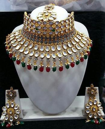 #kundan #jewellery #imitationjewelry #oxidisedjewellery #oxidizedsilver #jewellerybrand #only 3595/- to know more please whatsapp on 9326131634