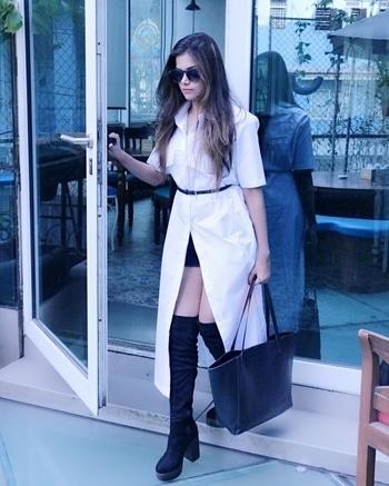 """Dress like you are going to meet your worst enemy today"" 😎 #ootd  #wardrobesecrets #indiangully #shirtdress #lifestyleblogger #mumbaifashionblogger"