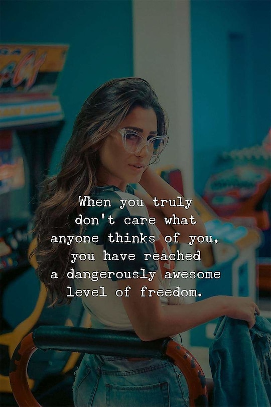 I'm there!! 😎 #roposo-quotes #quoteoftheday #dontcare #dontcarewhatpeoplethink #roposoquoteschannel #wellsaid #believeinyourself