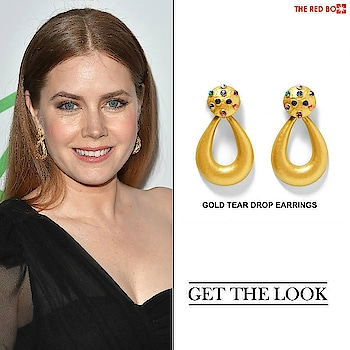 Make a statement a là Amy Adams in our Gold Tear Drop Earrings! ✨🙌🏻 http://theredbox.co.in/en/get-the-look-amy-adamss-earrings/ . . . . . #theredbox #crazysexycool #spiceitup #amyadams #goldenearrings #teardropearrings #statementjewelry #statementearrings #earringsogood #getthelook #look #style #getthestyle #dundas #dropearrings #chic #chiclook #looktheday #shoppingday #thursdays #accessories #newtrends #celebritystyle #celebstyle #stylebook #happyshopping #redhotfeed #blog #fashionblog #outfitinspo
