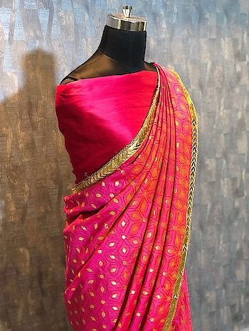 #vc2  *Saree Febric : Heavy Two Tone Silk * *Saree Cut : 5.50 MTR* *Work : Fency Lace work with Moti Work Border * *Blouse : Heavy Malbari Silk *  *Price : 1299 free shipping