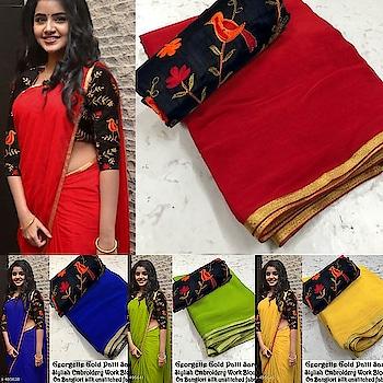 Rs.490/- Free shipping #dmfororders #saree-georgette #sareesale #saree #bazaar #roposobazaar #shippingindia