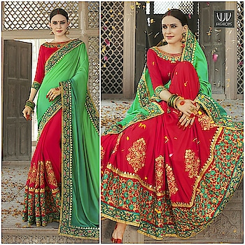 Buy Now @ https://goo.gl/YfdGaM  Mesmerizing Green and Red Embroidered Designer Saree  Fabric- Georgette  Product No 👉 VJV-KESA6738  @ www.vjvfashions.com  #saree #sarees #indianwear #indianwedding #fashion #fashions #trends #cultures #india #instagood #weddingwear #designer #ethnics #clothes #glamorous #indian #beautifulsaree #beautiful #lehengasaree #lehenga #indiansaree #vjvfashions #pretty #celebrity #bridal #sari #style #stylish #bollywood #vjvfashions