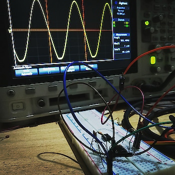 Can't describe the pain you undergo while troubleshooting your circuit, checking the wiring and connections, rebuilding the circuit several times. All this to see that perfect waveform and the sheer happiness of seeing your circuit work! #electronics #electric #circuit #pcb #dso #arduino #raspberrypi #ai #deeplearning #fsae #dones #iot #robotics #mechatronics #bitcoin #mining #science #computer #technology #ScrewBits