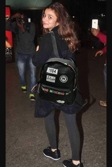 Moschino back pack  Carried by Alia Bhatt   Price rs 925+$  High quality thick material  Inside fully finished with quadurai  Full washable  Size 14 by 11 by 4.5