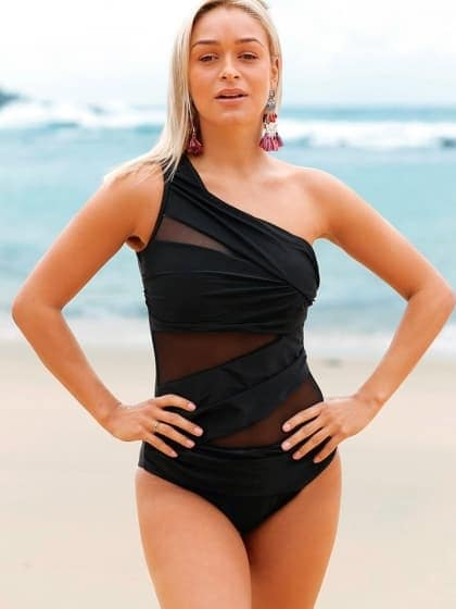 One Shoulder Black Swimsuit  Be beach ready with this sassy swimsuit.     Material - Blended Color - Black #INTERNATIONAL! The style is imported from our international warehouse! It takes 2-3 weeks to deliver. You are going to love waiting for this one.  Flat 53% Discount going on  Shop Now https://goo.gl/kQCYzd  https://dreamjourney.wooplr.com