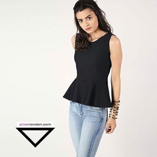 Work mode on 😎👸💟 Get this cute peplum top @ https://www.pilotlondon.com/collections/tops-peplum-tops/products/aviana-sleeveless-textured-peplum-top-black  #workmode #formalwear #shopnow #tops #stylecheck #fashion #peplum #trendy #chic #instastyle #shoponline #PilotLondon
